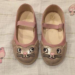 Toddler girl cat slip on shoes